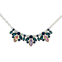 Buy Monet Navette Glass Crystal Collar Necklace, Silver/Blue Online at johnlewis.com