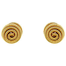 Buy Monet Spiral Ball Stud Earrings, Gold Online at johnlewis.com