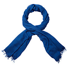 Buy Pure Collection Hampden Modal Scarf, Deep Blue Online at johnlewis.com