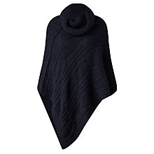Buy Jigsaw Cable Knit Roll Neck Poncho Online at johnlewis.com