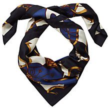 Buy Pure Collection Margaret Scarf, Equestrian Print Online at johnlewis.com