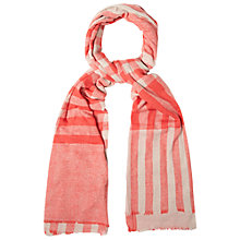 Buy White Stuff Cate Check Scarf, Orange Online at johnlewis.com