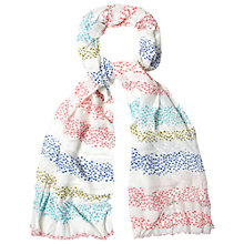 Buy White Stuff Interest Stripe Scarf, Multi Online at johnlewis.com
