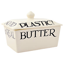 Buy Emma Bridgewater Black Toast Butter Dish, Small Online at johnlewis.com