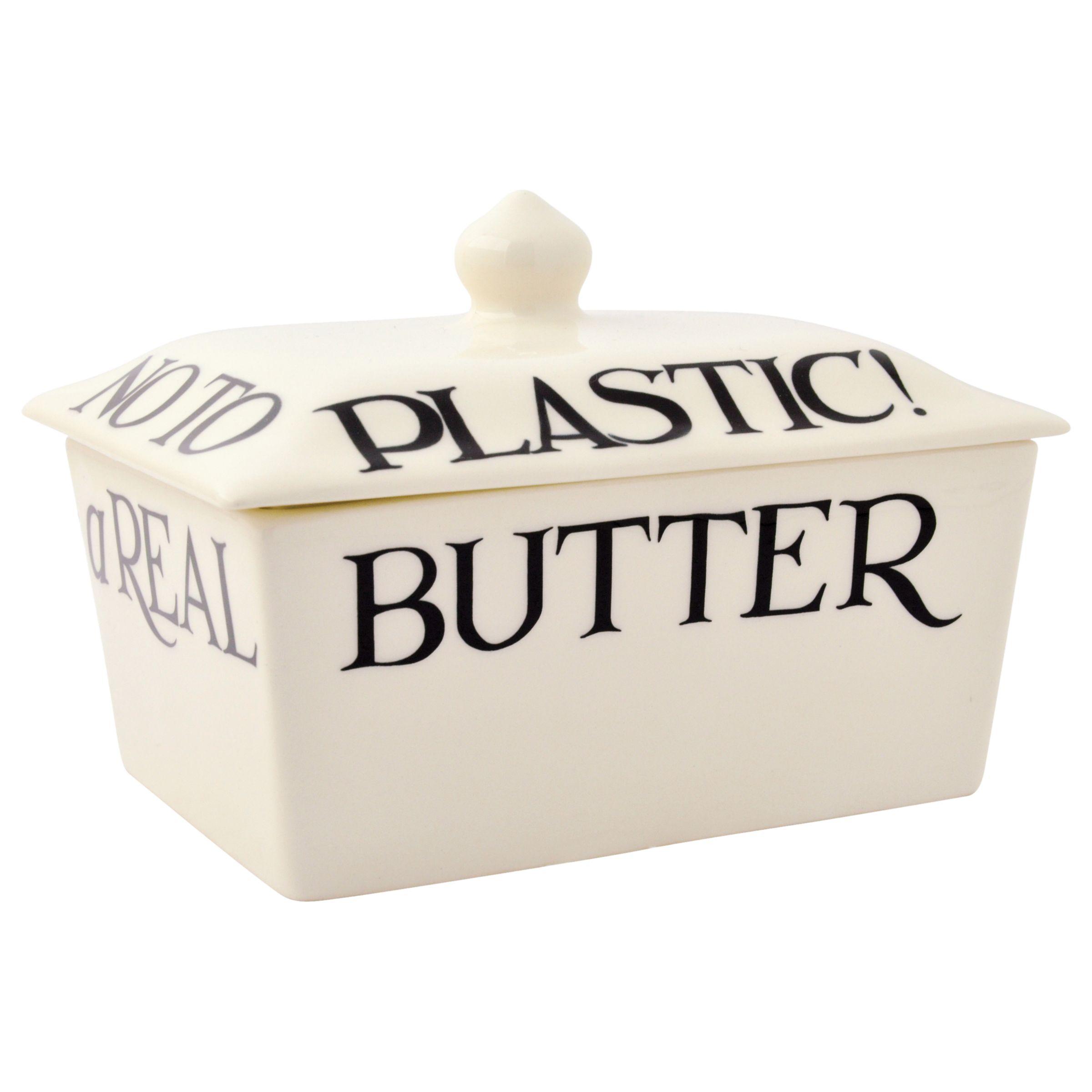 Emma Bridgewater Emma Bridgewater Black Toast Butter Dish, Small