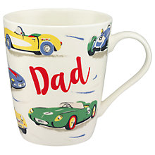 Buy Cath Kidston 'Dad' Fast Cars Stanley Mug Online at johnlewis.com
