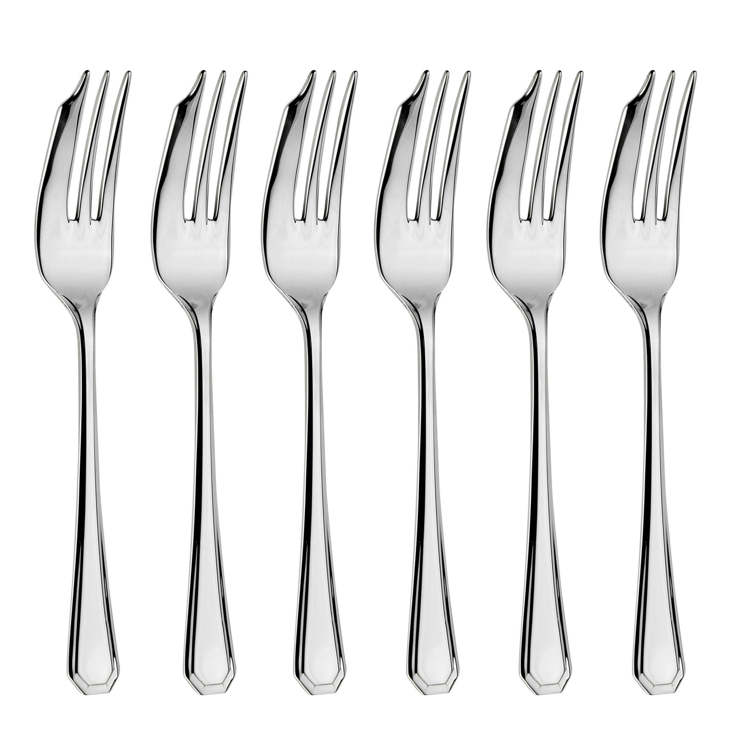 Arthur Price Arthur Price Grecian Pastry Forks, Set of 6