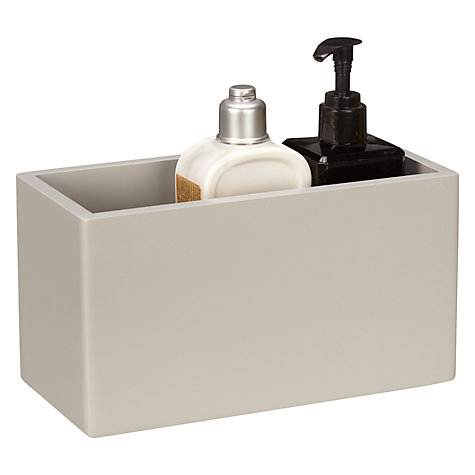 Buy house by john lewis bathroom storage box small grey for Bathroom storage ideas john lewis