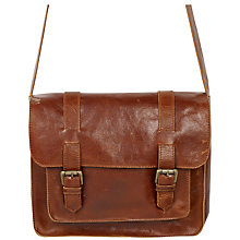 Buy Fat Face Claire Leather Satchel Bag, Tan Online at johnlewis.com