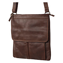 Buy Fat Face Grace Oiled Cross Body Bag, Chocolate Online at johnlewis.com