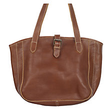 Buy Fat Face Small Shaped Buckle Tote Bag, Tan Online at johnlewis.com