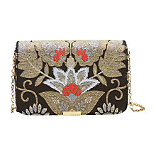 Buy Ted Baker Edena Jacquard Clutch Bag, Black Online at johnlewis.com