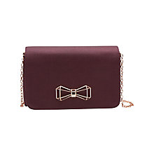 Buy Ted Baker Michala Bow Clutch Bag, Deep Purple Online at johnlewis.com