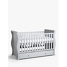 Buy John Lewis Martha Sleigh Cotbed, Grey Online at johnlewis.com