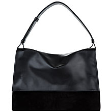 Buy Jaeger Portland Fold-Over Bag, Black Online at johnlewis.com