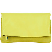 Buy Jaeger Portland Leather Clutch Bag, Yellow Online at johnlewis.com