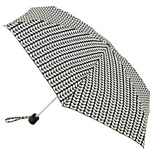 Buy Orla Kiely Tiny Bi-Colour Stem Umbrella, Ink/Cream Online at johnlewis.com