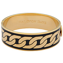 Buy Halcyon Days Curb Chain Hinge Bangle Online at johnlewis.com