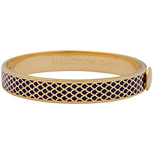 Buy Halcyon Days 18ct Gold Plated Enamel Salamander Bangle Online at johnlewis.com