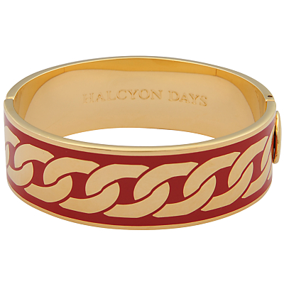 Halcyon Days Curb Chain Hinge Bangle