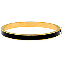 Buy Halcyon Days 18ct Gold Plated Skinny Plain Bangle Online at johnlewis.com