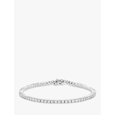 Diamond Collection 18ct White Gold Diamond Tennis Bracelet, 2ct