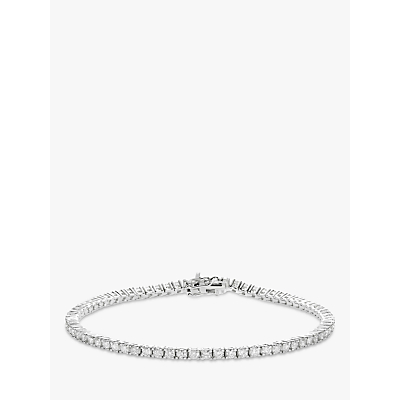 Diamond Collection 18ct White Gold Diamond Tennis Bracelet, 1ct