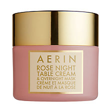 Buy AERIN Rose Night Table Cream & Mask, 50ml Online at johnlewis.com