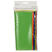 Buy John Lewis Bright Craft Felt, Pack of 10, Multi Online at johnlewis.com
