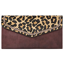 Buy Dune Elaine Envelope Clutch Bag, Leopard Online at johnlewis.com