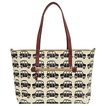 Buy Pink Lining Notting Hill Black Cabs Tote Bag, Black/White Online at johnlewis.com