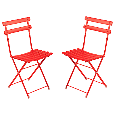 EMU Arcenciel Aluminium Chair, Set of 2, Chilli