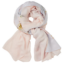 Buy Ted Baker Oriental Bloom Split Scarf, Light Grey/Blush Online at johnlewis.com