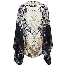 Buy Ted Baker Autumn Gem Gardens Silk Caped Scarf, Ecru/Multi Online at johnlewis.com
