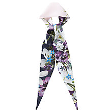 Buy Ted Baker Enchantment Mini Skinny Scarf, Navy/Multi Online at johnlewis.com