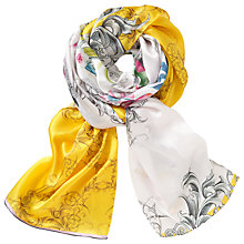 Buy Ted Baker Passion Flower Long Silk Scarf, Yellow/Multi Online at johnlewis.com