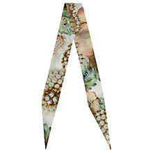 Buy Ted Baker Aubreyy Gem Gardens Skinny Scarf, Ecru/Multi Online at johnlewis.com