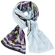 Buy Ted Baker Enchantment Split Scarf, Navy/Multi Online at johnlewis.com