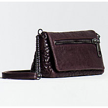 Buy Gerard Darel Le Elgin Leather Shoulder Bag, Aubergine Online at johnlewis.com