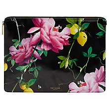 Buy Ted Baker Citrus Bloom Document Holder, Black Online at johnlewis.com