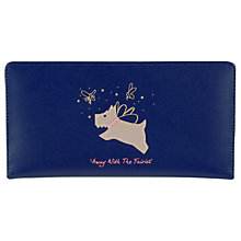 Buy Radley Away With The Fairies Large Zip Leather Purse, Blue Online at johnlewis.com