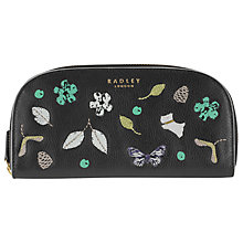Buy Radley Herbarium Large Zip Mantinee Leather Purse, Black Online at johnlewis.com