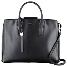 Buy Radley Beaufort Large Leather Multiway Grab Bag, Black Online at johnlewis.com