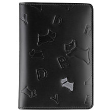 Buy Radley Oriel Leather Passport Cover, Black Online at johnlewis.com