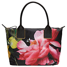 Buy Ted Baker Citrus Bloom Small Tote Bag, Black Online at johnlewis.com