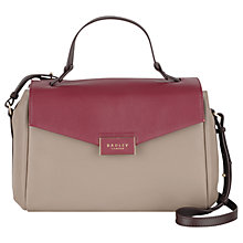 Buy Radley Farrow Medium Leather Multiway Grab Bag, Woodland Online at johnlewis.com