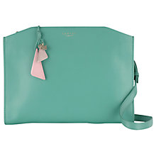 Buy Radley Grafton Leather Medium Across Body Bag, Green Online at johnlewis.com