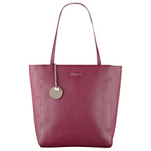 Buy Radley Longacre Leather Large Zip Top Tote Bag, Red Online at johnlewis.com