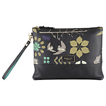Buy Radley Herbarium Medium Leather Clutch Bag, Black Online at johnlewis.com