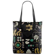 Buy Radley Herbarium Large Leather Tote Bag, Black Online at johnlewis.com